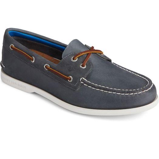 Navy Men's Authentic Original PLUSHWAVE Boat Shoe