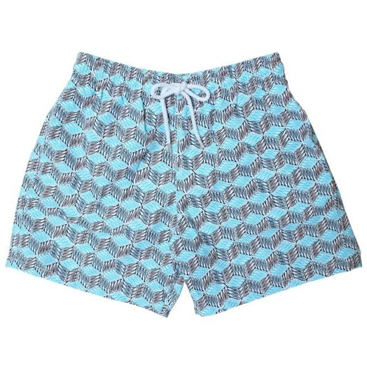 Blue Fish Cube Moorea Fit Swim Shorts