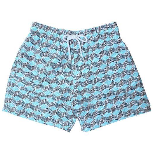 Blue Fish Cube Moorea Fit Swim Shorts