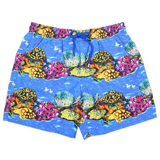 Atoll Blue 'X Hunt Slonem' Moorea Swim Shorts