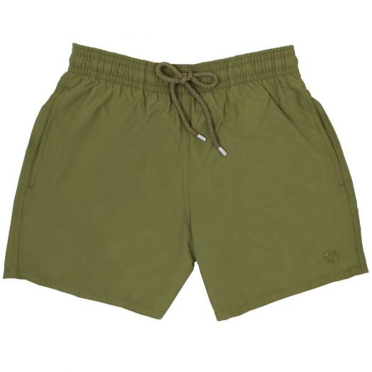 Khaki Water-Reactive Moorea Fit Swim Shorts