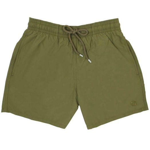 Khaki Water-Reactive Moorea Fit Swim Shorts
