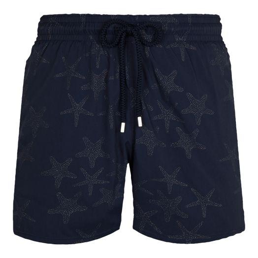 Navy 'Diamond Starfish' Moorise Swim Shorts