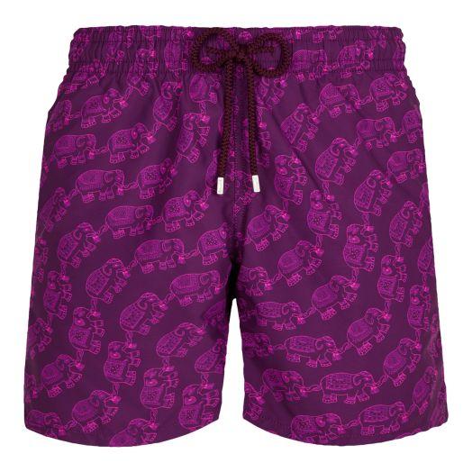 Purple 'Elephant Dance' Moorea Swim Shorts
