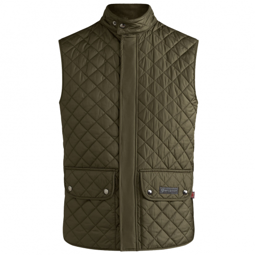 Faded Olive Lightweight Quilted Waistcoat