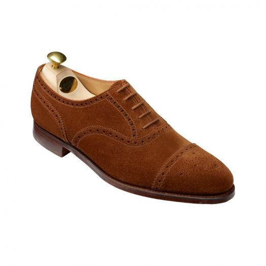 Westfield Tobacco Suede Oxford Brogue Shoes