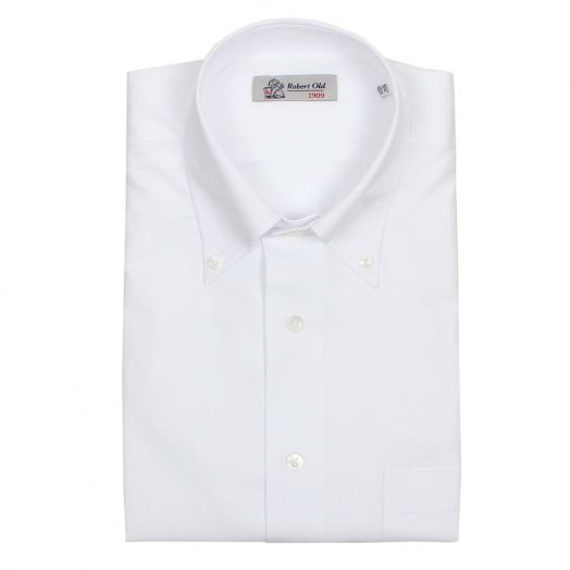 White 100% Premium Cotton Short Sleeve Shirt