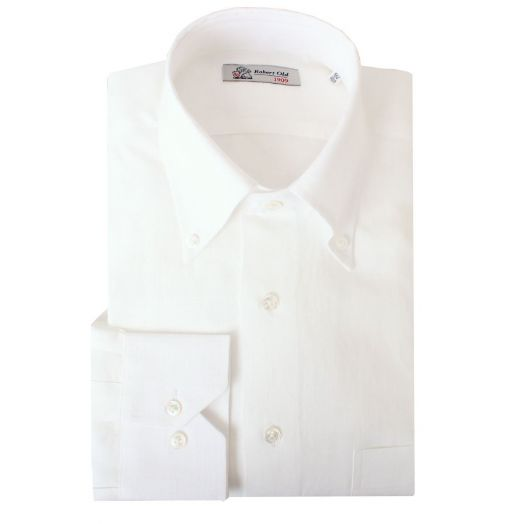 White Pure Irish Linen Shirt
