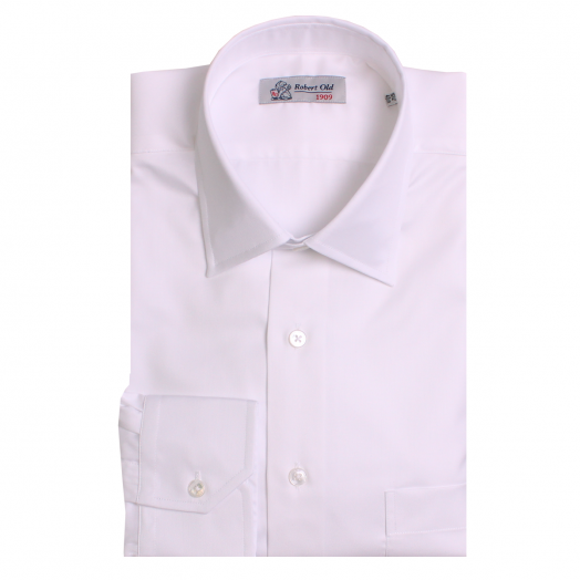 White Twill Swiss Cotton Shirt