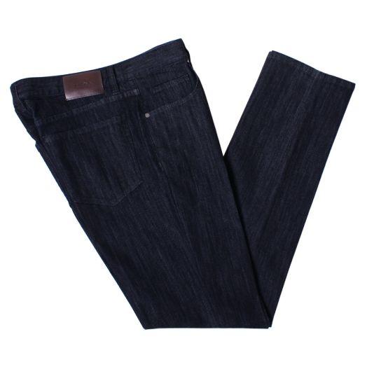 Dark Navy Stretch Cotton Jeans