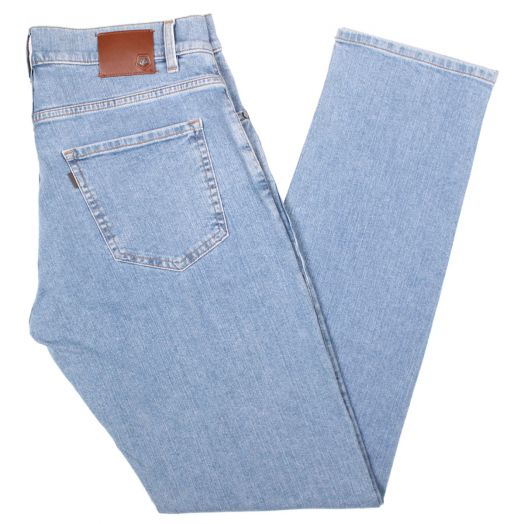 Light Wash Straight Leg Regular Jeans