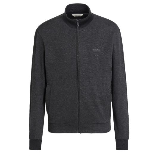 Asphalt Grey Technical Fabric Zip-Up Sweatshirt