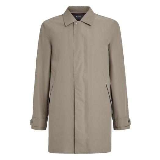 Beige Recyled Nylon Raincoat
