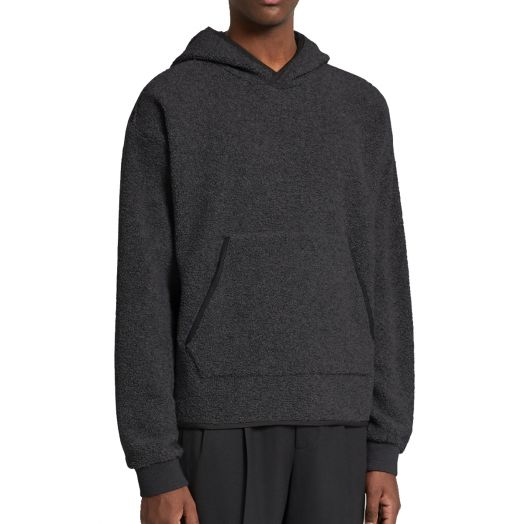 Black Mélange #UseTheExisting™ Wool Fleece Hoodie