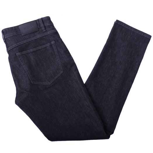 Charcoal Stretch Denim Slim Fit Jeans