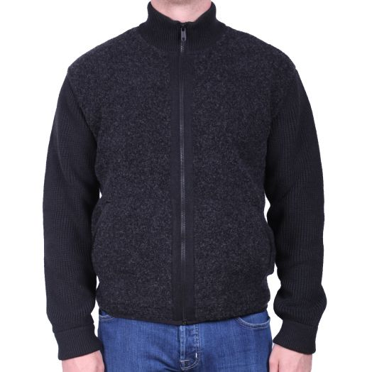 Charcoal #UseTheExisting™ Hybrid Full Zip Cardigan
