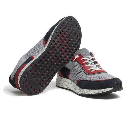 Light Grey & Navy TECHMERINO™ Piuma Sneakers