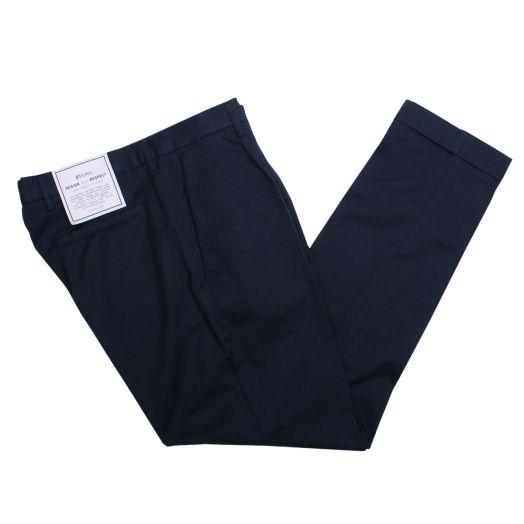 Navy Cotton & Linen Trousers