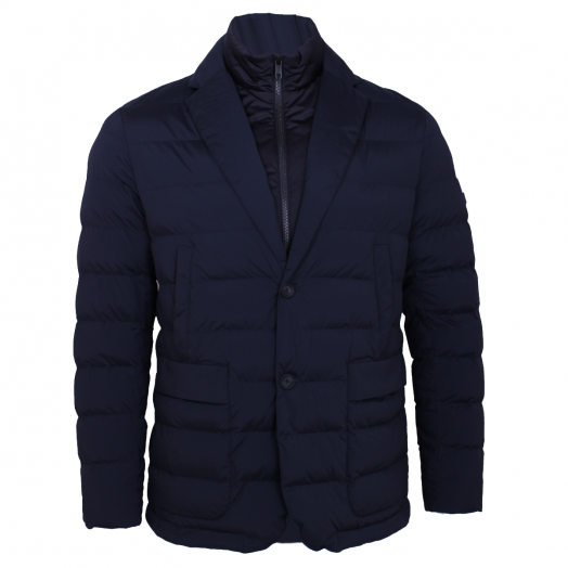 Goose Feather-Free Padded Jacket - Navy