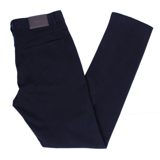 Navy Slim Fit Cotton Twill Stretch Jeans