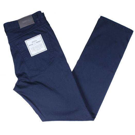 Navy Stretch Slim Fit Chino Jeans
