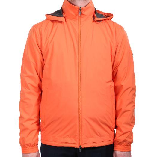 Papaya Orange Microfiber Short Jacket