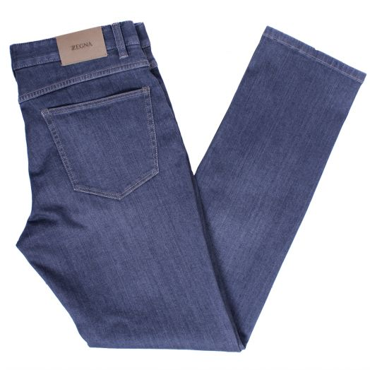 Silver Grey Slim Fit Cotton Stretch Jeans
