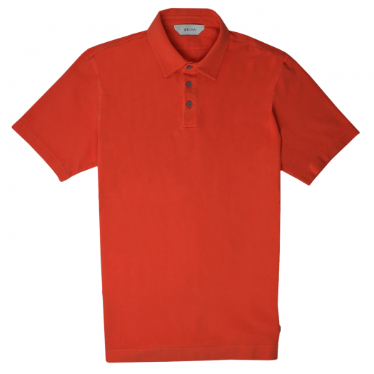 Orange Stretch Cotton Polo