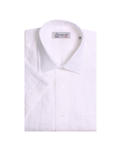 White Irish Linen Short Sleeve Shirt
