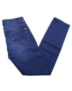 Mid-Blue Stretch Tek Slimmy Tapered Jeans