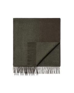 Dark Green Degradè 100% Pure Silk Scarf