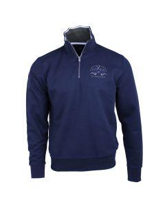 Navy 'NATANAEL' 1/4 Zip Sweater