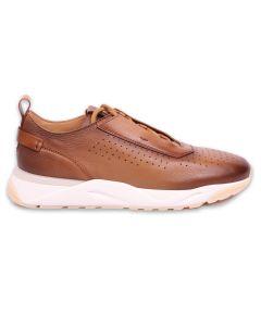Tan Ultralight Leather Sneakers