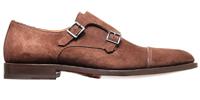 santoni_shoes_brown_suede_monk