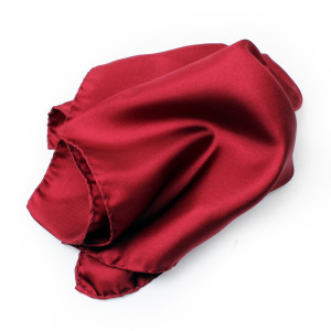 Burgundy Silk Pocket Square
