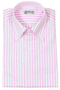 Robert Old Pink and White Stripe Shirt