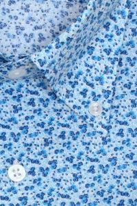 Robert Old Blue Floral Print Shirt
