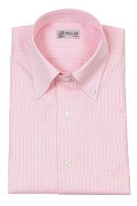 Pink Gingham Check Cotton Shirt - top best dress shirts