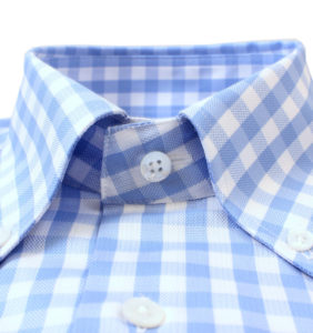 Robert Old Blue and White Gingham Check Shirt