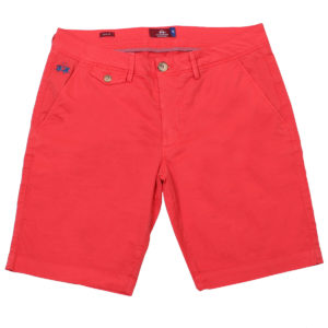 LA MARTINA HIBISCUS BERMUDA SLIM FIT COTTON CHINO SHORTS