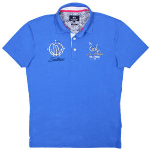 LA MARTINA MARINA BLUE SLIM FIT POLO SHIRT