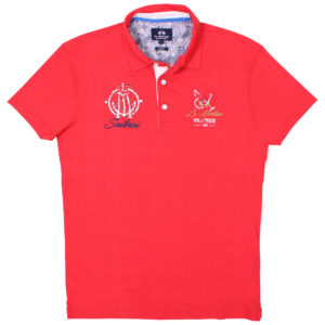 LA MARTINA POPPY RED SLIM FIT POLO SHIRT