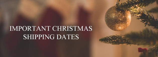 Important Christmas Shipping Dates